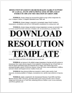 Download Resolution Template